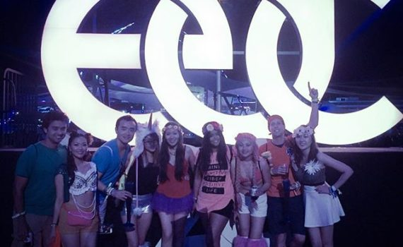 Asian ravers at Electric daisy carnival Las Vegas 2016