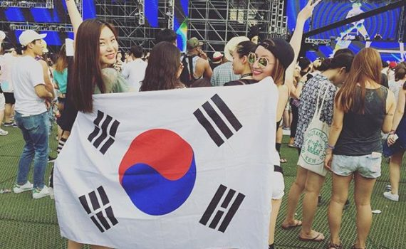 EDM ravers at UMF Korea