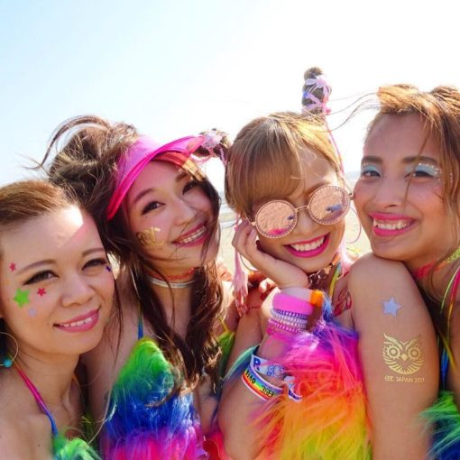 Asian rave girls at EDC Japan 2017.